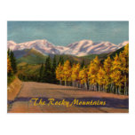 Autumn In The Rockies Vintage Postcard