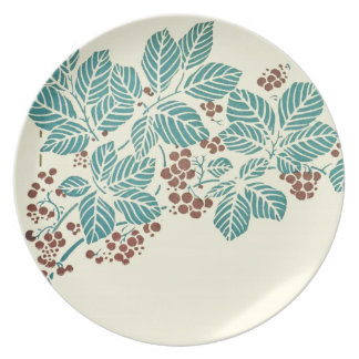 Autumn Ivy Leaves and Vine Berries Dinner Plate
