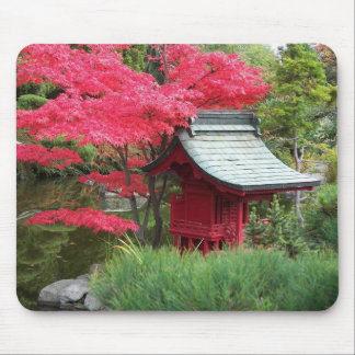 Autumn Japanese Garden Photo Mouse Pad