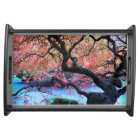 Autumn Japanese Maple Tree Photo Serving Tray