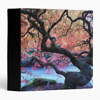 Autumn Japanese Maple Tree Photo Vinyl Binder