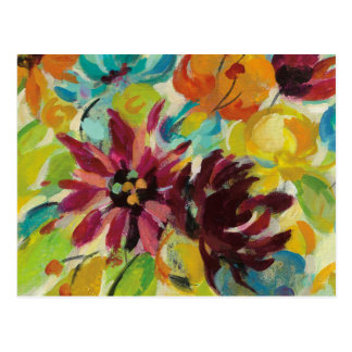 Autumn Joy Flowers Postcard