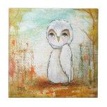 Autumn Joy Whimsical Woodland Owl Art Painting
