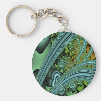 Autumn Basic Round Button Keychain