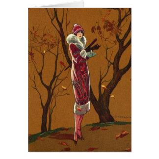 Autumn Lady, Card