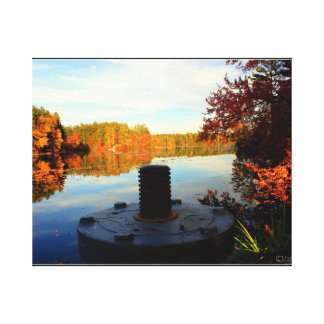 Autumn Lake Canvas Print