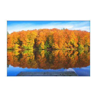 Autumn lake. canvas print