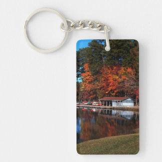 Autumn Lake Single-Sided Rectangular Acrylic Keychain