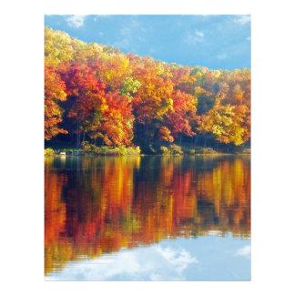 Autumn Lake Letterhead Template