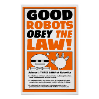 "Autumn Lake ""ROBOT LAW"" Poster"