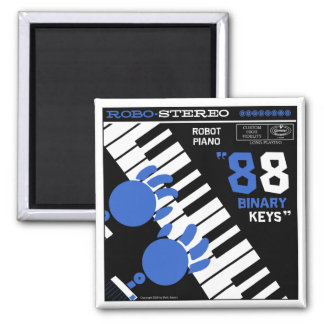"Autumn Lake ""ROBOT PIANO"" Magnet"