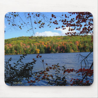 Autumn Lake View Mouse Pad