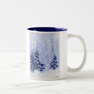 "Autumn Lake ""WINTER PINES"" Coffee Mug"