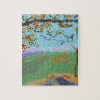 Autumn Land Art Jigsaw Puzzle