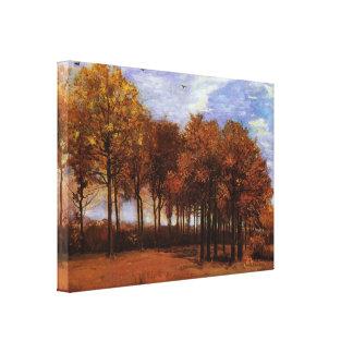 Autumn Landscape by Vincent van Gogh Canvas Print