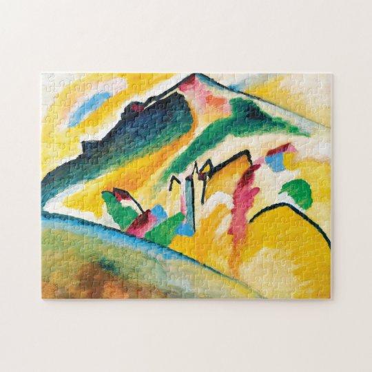 Autumn Landscape by Wassily Kandinsky Jigsaw Puzzle