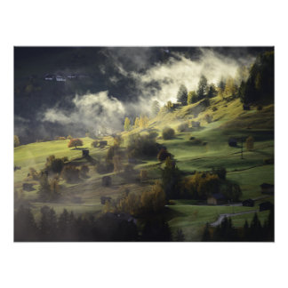 Autumn landscape photo print