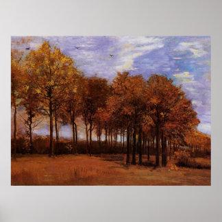 Autumn landscape, Vincent  van Gogh Poster