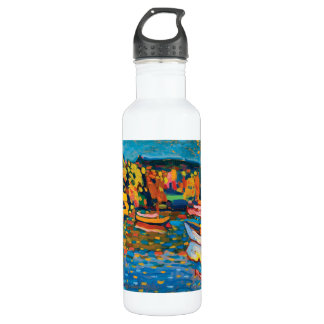 Autumn Landscape with Boats by Wassily Kandinsky 710 Ml Water Bottle