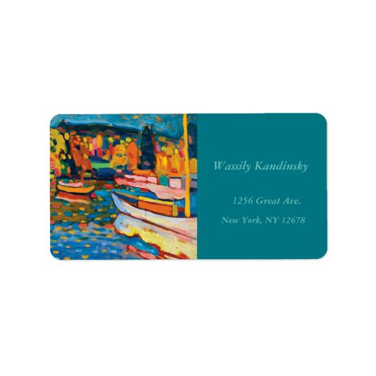 Autumn Landscape with Boats by Wassily Kandinsky Label
