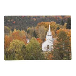 Autumn landscape with church, Vermont, USA Laminated Placemat