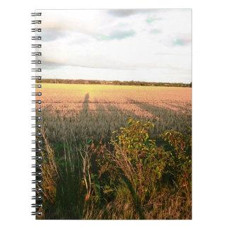 Autumn landscape with rustic colours photo art note books