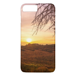 Autumn lavender field on sunset iPhone 7 plus case