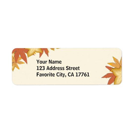 Autumn Laves Address Labels