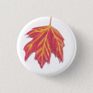 Autumn leaf 1 inch round button