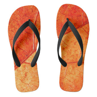 Autumn Leaf Flip Flops