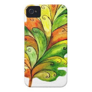 Autumn Leaf in Watercolor iPhone 4 Cover