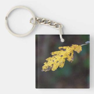 Autumn leaf Single-Sided square acrylic keychain