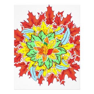 autumn leaf letterhead