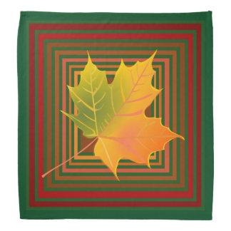 Autumn Leaf Motif Block Design Bandana