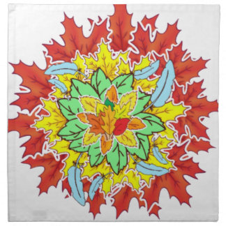 autumn leaf napkin