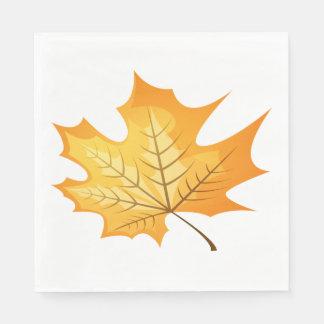 Autumn Leaf Orange Wedding Disposable Napkins