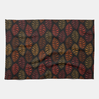 Autumn Leaf Pattern Kitchen Towel
