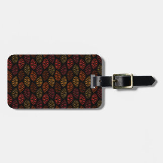 Autumn Leaf Pattern Luggage Tag