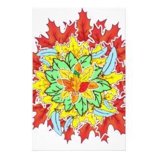 autumn leaf stationery