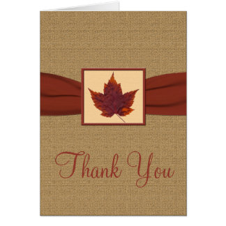 Autumn Leaf Thank You Note Card
