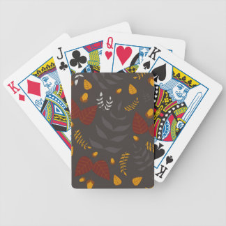Autumn leafs and acorns bicycle playing cards