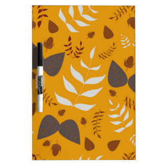 Autumn leafs and acorns dry erase whiteboards