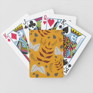 Autumn leafs and acorns poker deck