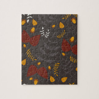 Autumn leafs and acorns puzzle