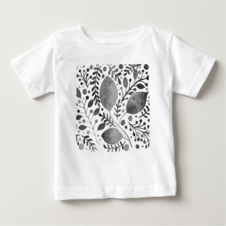 Autumn leafs - black and white baby T-Shirt