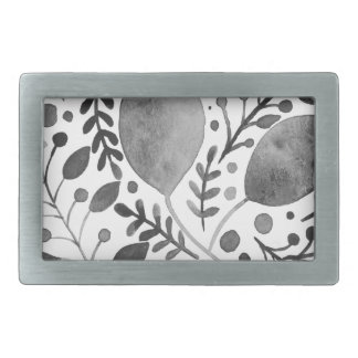 Autumn leafs - black and white belt buckle