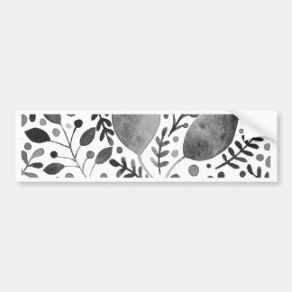 Autumn leafs - black and white bumper sticker