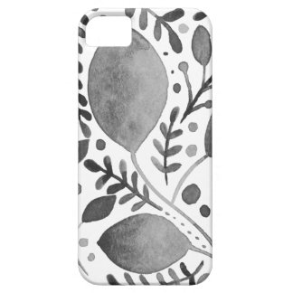 Autumn leafs - black and white iPhone 5 covers