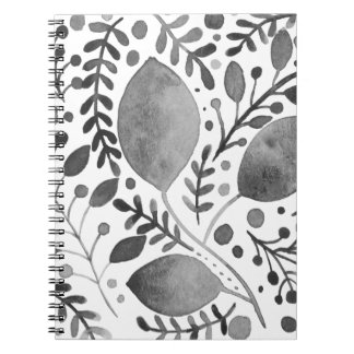 Autumn leafs - black and white notebooks