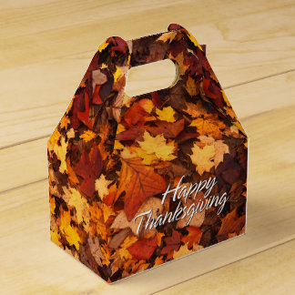 Autumn Leaves 6 Favor Box